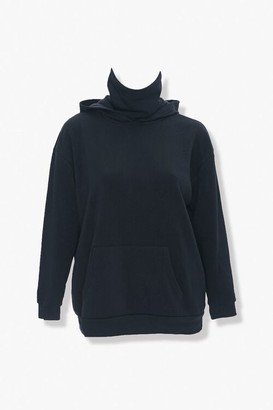 Forever 21 Plus Size Face Mask Hoodie