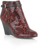 Lotus Aiken animal print shoe boots