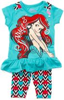 Children's Apparel Network Blue Disney Princess Ariel Tutu Dress & Leggings - Toddler