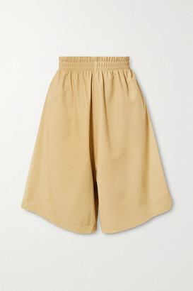 Bottega Veneta Leather Shorts - Cream