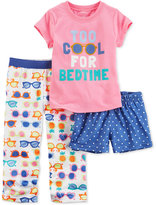 Carter's 3-Pc. Too Cool For Bedtime Pajama Set, Toddler Girls (2T-4T)