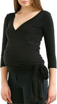 Momo Baby Elbow Sleeve V Neck T-Shirt-Womens Maternity