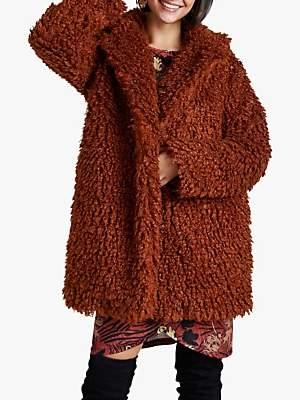 Yumi Teddy Bear Coat, Tan