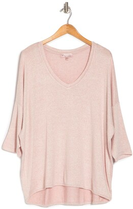 philosophy V-Neck High/Low Hem Shirt