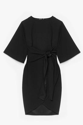 Nasty Gal Womens No Harm in Tie-ing Plus Wrap Dress - Black