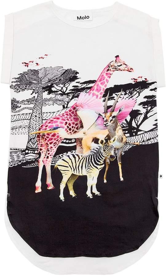 Molo Safari Print Cotton Jersey Cover-Up