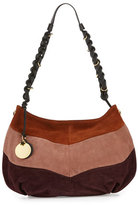 See by Chloe Braided Suede Patchwork Hobo Bag, Grape