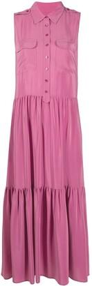 Equipment Sleeveless Silk Shirt Dress