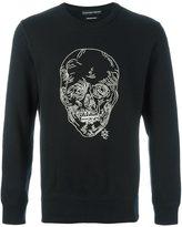 Alexander McQueen chain skull sweatshirt - men - Cotton - M