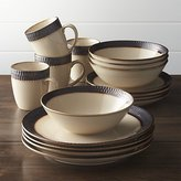 Crate & Barrel Scavo 16-Piece Dinnerware Set