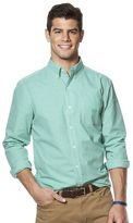 Chaps Men's Gingham Easy-Care Poplin Shirt