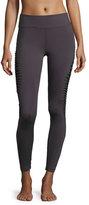 Koral Activewear Mentor Mesh-Inset Athletic Leggings, Charcoal