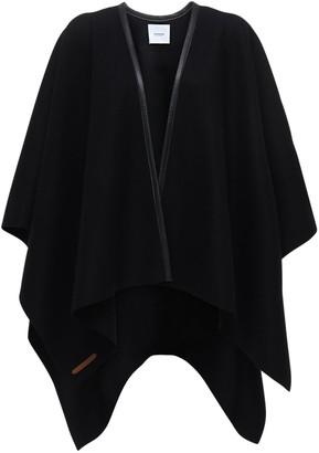 Agnona Cashmere Cape W/ Leather