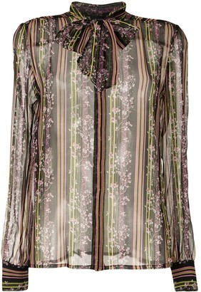 Giambattista Valli Floral-Print Silk Shirt