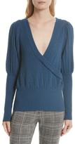 Tracy Reese Women's Pointelle Knit Surplice Sweater