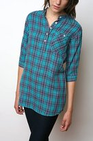 Lark & Wolff by Steven Alan Plaid Short Sleeve Tunic