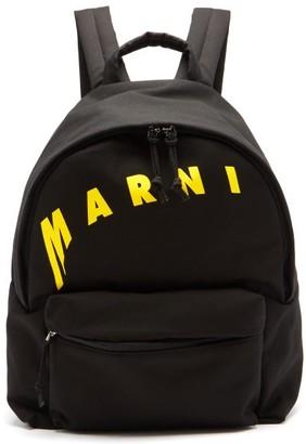 Marni Logo-print Canvas Backpack - Black