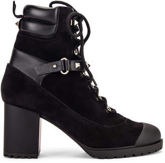 Valentino Rockstud Combat Boots in Black | FWRD