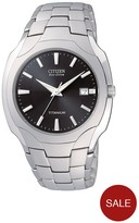 Citizen Eco-Drive Titanium Date Bracelet Mens Watch