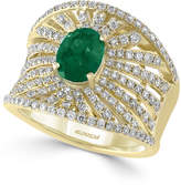 Effy Final Call Emerald (1-1/8 ct. t.w.) and Diamond (1-1/10 ct. t.w.) Ring in 14k Gold