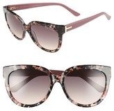 Ted Baker Women's 55Mm Cat Eye Sunglasses - Brown Horn