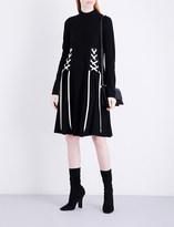 Sportmax Nias lace-up wool dress