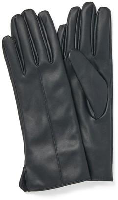 Forever New Brooklyn Faux Fur Gloves - Black - m l