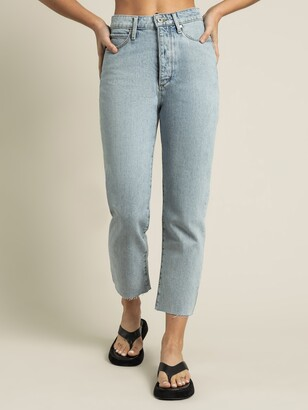 Articles of Society High Nina Cropped Jeans in Vintage Blue