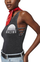 Topshop &Malibu& Washed Bodysuit