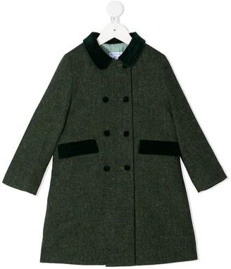 Siola Herringbone Virgin-Wool Coat