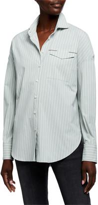 Brunello Cucinelli Monili-Pocket Poplin Shirt