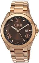 Versus By Versace Women's SBE070015 Analog Display Quartz Gold Watch