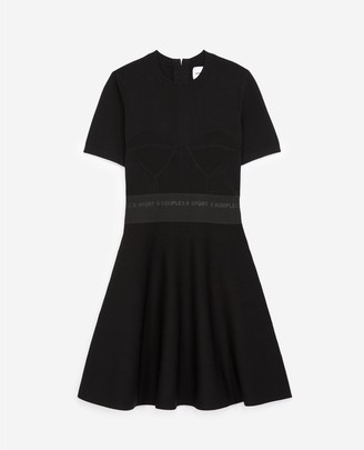 The Kooples Black skater dress with elastic waist