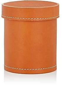 Arte & Cuoio Leather Lidded Pencil Cup - Natural