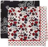 D&Y Women's 2 pack floral/bandana combo Accessory