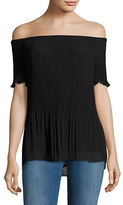 MICHAEL Michael Kors Pleated Off-the-Shoulder Top