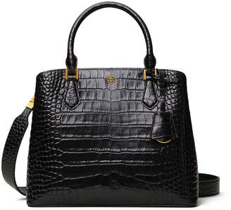 Tory Burch Robinson Embossed Leather 3-Compartment Tote Bag