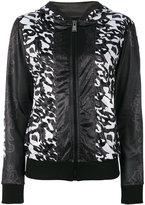 Plein Sport - tonal floral print jacket - women - Polyester - XS