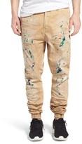 PRPS Men's 'Damiana' Splatter Paint Stretch Woven Jogger Pants