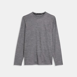 Theory Active Wool Long-Sleeve Tee
