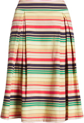 Halogen X Atlantic-Pacific Print Full Midi Skirt