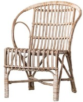 Bungalow Rose Kail Cane Wood Armchair