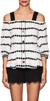 Derek Lam 10 Crosby Women's Dotted Silk Off-The-Shoulder Top
