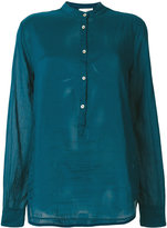 Forte Forte mandarin neck sheer shirt - women - Silk/Cotton - I