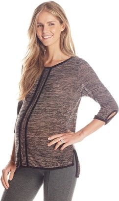 Maternal America Women's Maternity Open Neck French Seam Tee