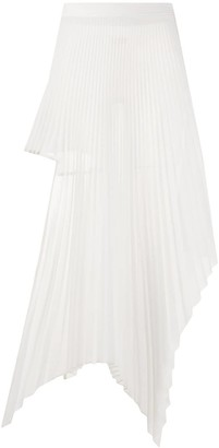 Peter Do Asymmetric Pleated Skirt