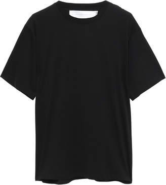 Victoria Victoria Beckham Victoria, Victoria Beckham Silk Crepe De Chine-paneled Cotton-jersey T-shirt