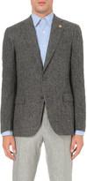 Lardini Slim-fit brushed wool-blend jacket
