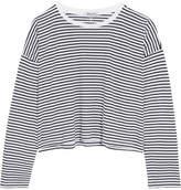 Alexander Wang Striped Cotton-jersey Top - White