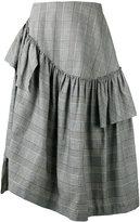 Simone Rocha checked skirt - women - Cotton/Linen/Flax/Spandex/Elastane/Acetate - 10